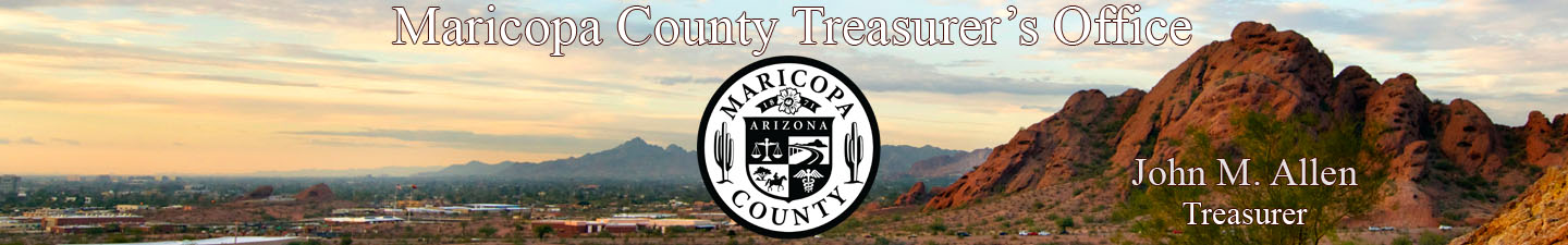 Maricopa County Treasurer Banner
